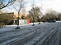 An icy car park at Guildford Cathedral - geograph.org.uk - 1153930.jpg