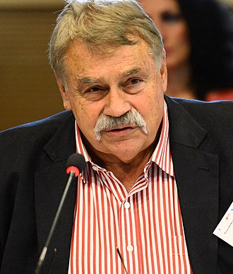 2010 Hungarian presidential election - Image: András Balogh, IEIS conference «Russia and the EU the question of trust» 105 (crop)