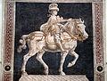 Andrea del castagno, Monumento equestre di Niccolò da Tolentino, 1456, 02.JPG