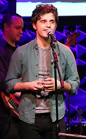 Andy Mientus - Mientus on the It Gets Better Project Holiday Show in 2014