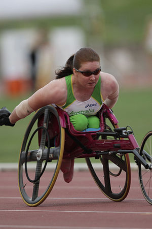 T53 (classification) - Angie Ballard is a T53 competitor