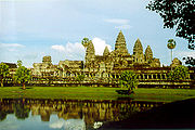Angkor Wat, the largest temple in the world, in Siem Reap, Cambodia