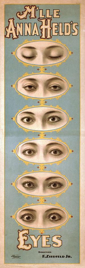 Florenz Ziegfeld Jr. - Poster promoting theatre performer Anna Held (c. 1898)