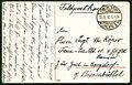 Anonymer Fotograf PC 0011 Hannover. Partie an der Leine. Feldpostkarte 1917 Sergant Chr. Röper, Train-Ersatz-Abt. 10, 4. ... Bargdorf Bienenbüttel, Adresseite I.jpg