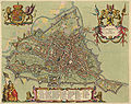 Antique map of Gent by Blaeu J. 1649.jpg
