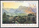 Anton Karinger - Bohinjsko jezero (znamka).jpg