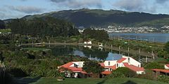 Aotea Lagoon,Porirua,NZ from north-east (straightened).jpg