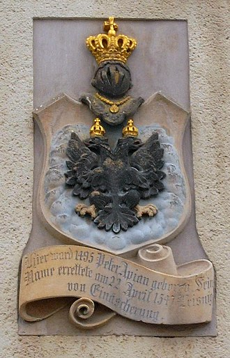 Petrus Apianus - Arms of coat of nobility Apian in Leisnig / Saxony