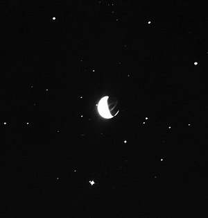 Examination of Apollo Moon photographs - AS16-123-19657: Long-exposure UV photo taken from the surface of the Moon by Apollo 16 using the Far Ultraviolet Camera/Spectrograph. It shows the Earth with the correct background of stars.