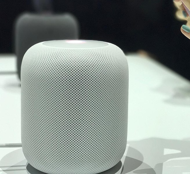 File:Apple HomePod at WWDC 2017 in white.jpg