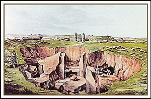 Xagħra Stone Circle - Painting of the Xagħra Stone Circle by Charles Brochtorff
