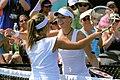 Aravane Rezaï & Sabine Lisicki (2011 Texas Tennis Open).jpg