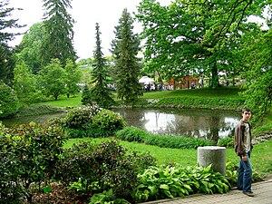 Wojsławice Arboretum - A pond in the arboretum