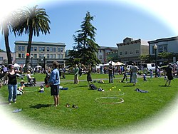 Arcata Plaza on Farmers' Market Day