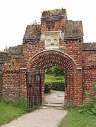 Arch in Tudor brick wall, Fulham Palace - geograph.org.uk - 835785