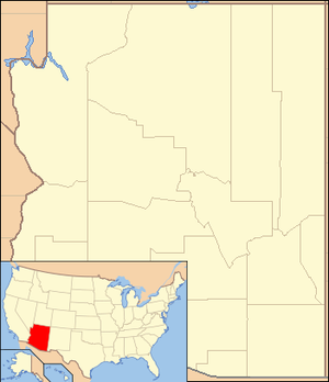 Map showing the location of Saguaro National Park