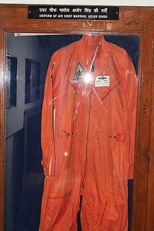 Arjan Singh - Uniform of Air Chief Marshal Arjan Singh at Air Force Museum in Delhi
