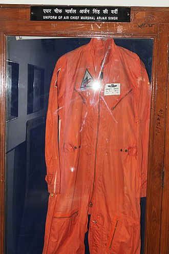 Arjan Singh - Uniform of Air Chief Marshal Arjan Singh at Air Force Museum in Delhi