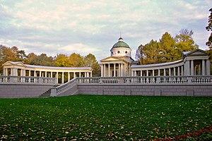 "Arkhangelskoye Palace - The unfinished ""Colonnade"" mausoleum"