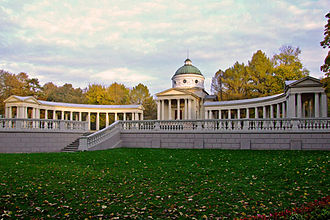 "Arkhangelskoye Palace - The unfinished ""Colonnade"" mausoleum"