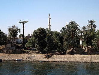 Armant, Egypt - Banks of the Nile at Armant