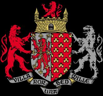 Villemomble - Image: Armes Rouge Gris Or