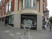 Armillary and Waterstones in Sutton Surrey.JPG