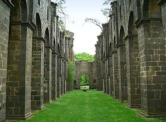 Arnsburg Abbey - The roofless abbey church