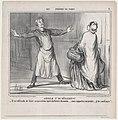 Article 27 du Réglement, from Les Portiers de Paris, published in Le Charivari, December 4, 1858 MET DP876710.jpg