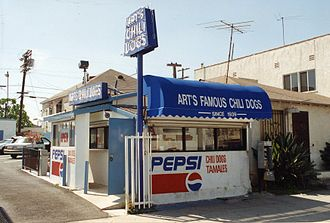 Hot dog stand - Image: Arts Famous Chili Dog Stand