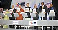 Arun Jaitley along with the Finance Ministers of Bangladesh, Bhutan, Maldives, Myanmar, Nepal, Sri Lanka launching the SASEC Vision, at the South Asia Subregional Economic Cooperation (SASEC) Finance Ministers' meeting (1).jpg