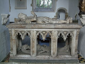 John FitzAlan, 14th Earl of Arundel - John FitzAlan's free-standing cadaver tomb was opened in 1857, to reveal a skeleton missing one leg.
