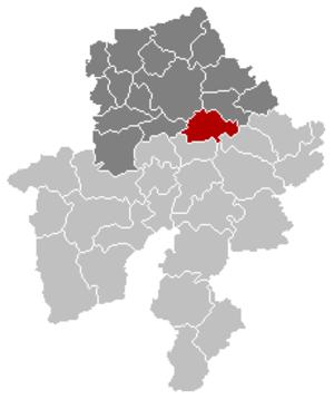 Assesse - Image: Assesse Namur Belgium Map