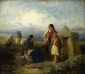 Francis William Topham - At the Holy Well by Francis William Topham