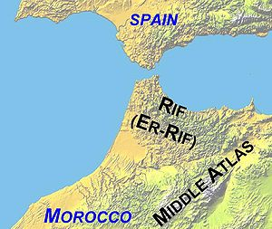 Rif - Image: Atlas Mountains Labeled 2 new
