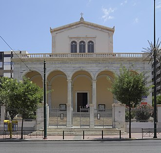 Religion in Greece - Cathedral Basilica of St. Dionysius the Areopagite in Athens.