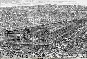 "Shopping - Le Bon Marché, founded in Paris, offered a wide variety of goods in ""departments"" inside one building, from 1851."