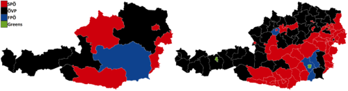 Austrian Legislative Election 2013 - Largest Party By State and District.png