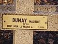 Auvelais Cimetiere Francais croix Belgium 20070101 (13) Didier Misson.JPG