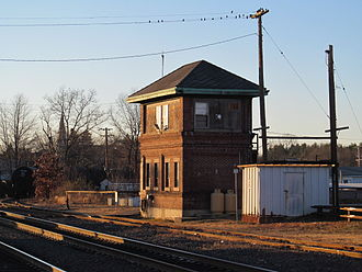 Ayer (MBTA station) - Ayer interlocking tower, which controlled access to the various rail lines running through Ayer