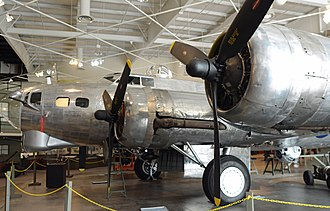 Boeing B-17 Flying Fortress - Nose of a B-17G being restored at the Mighty Eighth Air Force Museum