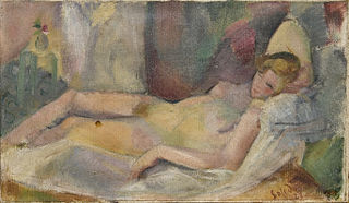 Portrait of a Naked Woman Lying