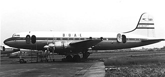 Handley Page Hermes - BOAC Hermes IV at London Heathrow in 1953