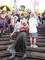 BP Oil Flood Protest Skullface Oil Pigs.JPG
