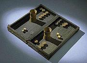 Backgammon set, 19th century