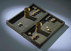 Backgammon - Backgammon set, 19th century