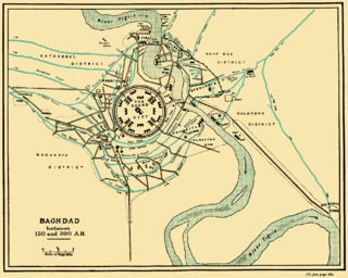 Original core of the city of Baghdad