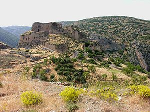İskenderun - Ruins of Bagras Castle on the Nur (Amanos) Mountains near İskenderun