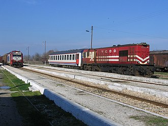 Hellenic Railways Organisation -  Pythio station, where OSE's network connected to that of Turkish State Railways (TCDD) until February 2011