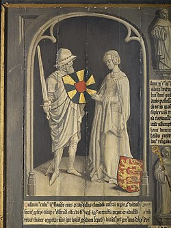 Count Baldwin II and Countess Ælfthryth (15th-century depiction).